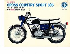 1967 Yamaha 305 Cross Country YM-1  motorcycle sales brochure, (Reprint) $6.00