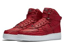 NEW Nike Air Force 1 High '07 LV8 Gym Red Woven Shoes 843870-600 Mens sz 9.5