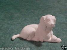 Small 4.5 inch Beagle DOG animal READY TO PAINT CERAMIC BISQUE CRAFT hand made