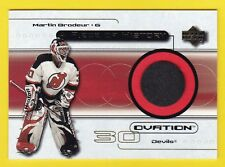 MARTIN BRODEUR ~GAME USED PUCK~ 1999-00 Ovation  Devils