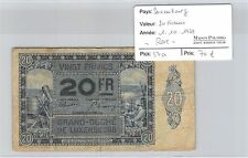 BILLET LUXEMBOURG - 20 FRANCS - 1.10.1929 - RARE !