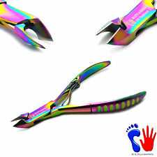 "Stainless Steel Titanium Manicure Cuticle Remover Clipper Nipper Scissors 4"" New"