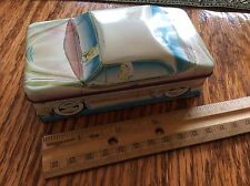 IAN  LOGAN'S CARLECTABLES TIN RETRO BLOND DRIVER CONTAINER  1982 ENGLAND