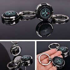 Portable MINI Sports Outdoor Camping Hiking Metal Precise Keychain Compass Ring
