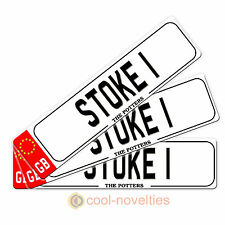 """MINI NOVELTY NUMBER PLATE / BOOKMARK GIFT """" STOKE 1 """" PERFECT FOR FOOTBALL FANS"""
