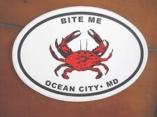 "Ocean City,Maryland Auto/Refrigerator Decal/Sticker  "" Oval"" New ""Bite Me"""