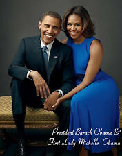 """President Obama & First lady Michelle"""" Personal Size - MINI - Poster (12"""" x 10"""")"""
