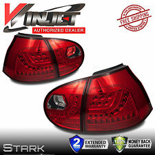 06-09 Volkswagen MK5 GOLF GTI RABBIT LED Tail Lights Chrome Red VW Rear Lamp x2