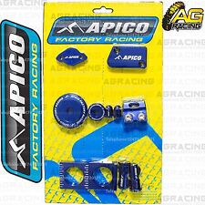 Apico Bling Pack Blue Blocks Caps Plugs Clamp Cover For Yamaha YZF 450 2014-2015