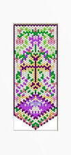 Floral Cross Beaded Banner Pattern