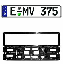 New Germany/German EEC European Front License Plate (Random) & Mounting Frame