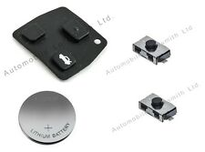 Refurbishment kit for Toyota Rav4 2 button remote key rubber pad battery switch