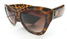 NEW women's VERSACE 1969 abbigliamento sportivo brown leopard cat eye sunglasses