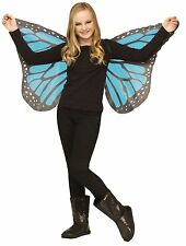 Child Soft Cloth Blue Fabric Blue Butterfly Wings Costume Accessory