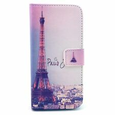 For iPhone SE / 5S - ID CREDIT CARD WALLET DIARY POUCH CASE PARIS EIFFEL TOWER