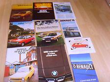2 folletos de coche Renault 1979