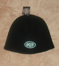 New York Jets Football NFL Uncuffed Black Winter Knit Hat New Beanie FREE SHIP