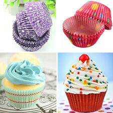 100 Colorful Mini Cupcake Liners Muffin Case Cake Paper Baking Cups Color Random
