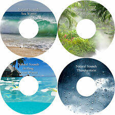 Natural Sounds Sea & Drifting Ocean Waves Jungle Thunderstorm 4 CDs Relaxation