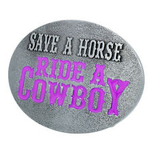 Save a Horse Ride a Cowboy Belt Buckle Zinc Alloy Unique Country Girl Snap