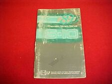 1989 CHEVROLET S10 S 10 PICKUP BLAZER ORIGINAL OWNERS MANUAL SERVICE GUIDE 89