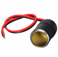Cigarette Socket Lighter Cable Plug Cigar Connector Female Car DC Adapter 12/24V