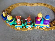 Mega Bloks Winnie The Pooh Musical Motorized Train with EXTRA CAR and PEOPLE