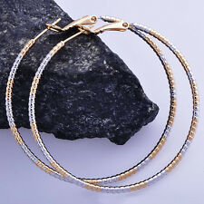 Gold Filled Big Fashion Girl Round Circle Gold Basketball Wives Hoop Earring