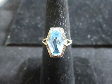 VINTAGE 10K YELLOW GOLD TOPAZ RING SIZE 6.25