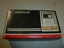 VINTAGE BOXED EMERSON POCKET AM FM RADIO P-4000 SOLID STATE TRANSISTOR