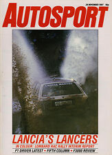 Autosport 26 Nov 1987 - RAC Rally, Survey F3000, Brands Hatch FF2000, Civic CRX