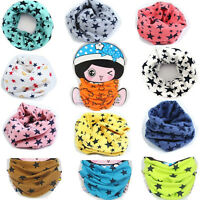 Children's Cotton Scarves Unisex Winter Knitting Stars Collar Neck Warmer Nice