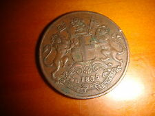 1835 East India Company, One Quarter Anna, nice & decent circulated