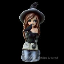 *REGAN* Gothic Witch Raven Art Hand Painted Resin Figurine By Nemesis Now