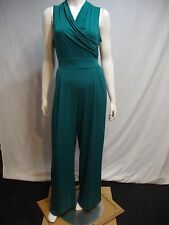 STUDIO ONE NEW YORK 12 Jumpsuit Stretchy Green Crossover Sleeveless Sislou R25