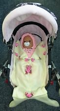 New baby dolls cream mermaid sleeping bag pram Annabell Chou Born Tiny Tears