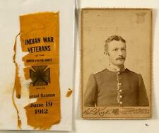 Indian Wars Cabinet Card and Veterans Ribbon Lot 4540