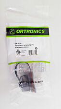 New Ortronics OR-IPJ6 Industrial Jack CAT6 IP67 Black with Cover