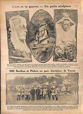 Poilus Sculpteur Sphinx/Louis Barthou & Pichon Parc Aviation de Venise  1916 WWI