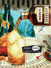 PUBLICITE ADVERTISING 125  1957  HENCO HENNESSY  cognac