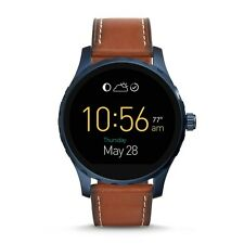 FOSSIL Watch FTW2106 Men's Q Marshal Touchscreen Smartwatch Leather Strap Brown