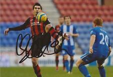 BOURNEMOUTH: RICHARD HUGHES SIGNED 6x4 ACTION PHOTO+COA
