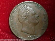 1837 Uk (Great Britain) 1/2 Penny Beautiful Condition King George