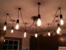 BEST DEAL SLASHED PRICE for SUMMER 10 Wire Edison Chandelier + 10 Filament Bulbs