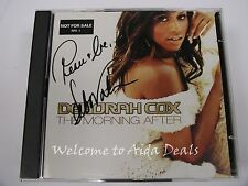 (Signed) Morning After (+ Bonus CD) by Deborah Cox (CD, Feb-2003, 2 Discs, Bmg)