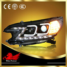 For 2012 Honda CRV LED Headlight with Angel Eye and LED DRL, Bi-Xenon Projector