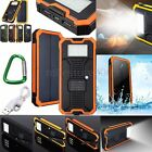 Waterproof 300000mAh Portable Solar Charger Dual USB RT Battery Power Bank Phone