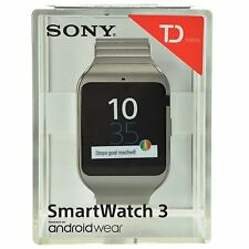 Sony SWR50 SmartWatch 3 NFC Bluetooth IP68 SW3 Waterproof Android - Metal Strap