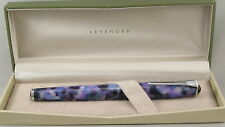 Levenger True Writer Ultra Violet Purple & Chrome Fountain Pen - Medium Nib -New