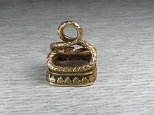 Regency Oro Antico seal fob-CORNIOLA pietra intaglio Serpente